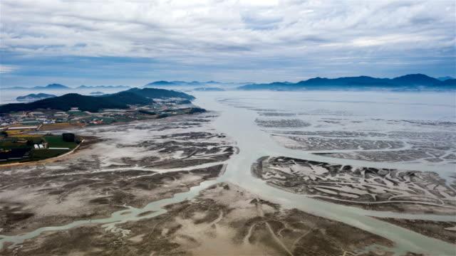 mudflats / jeollanam-do, south korea - mud flat stock videos & royalty-free footage