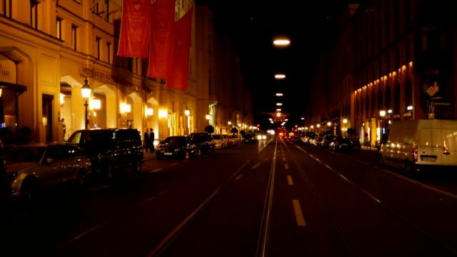 Muenchen Maximilianstrasse And Hotel Vier Jahreszeiten Kempinski At Night