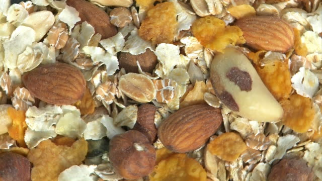 Muesli with nuts, cereal, cornflakes