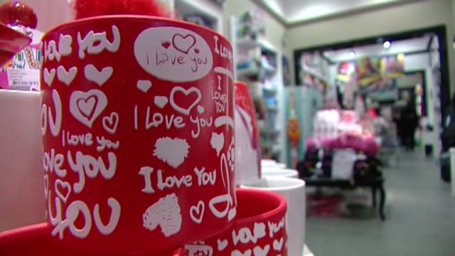 "mug with ""i love you"" inscription - valentine's day stock videos & royalty-free footage"