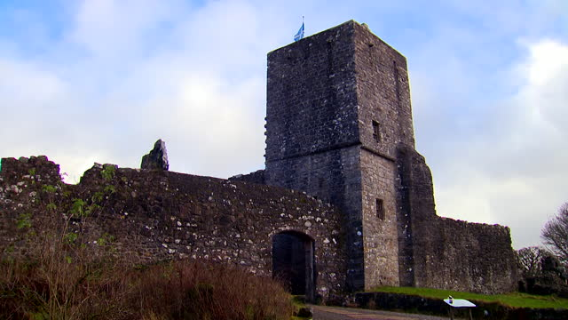 mugdock castle, scotland - scottish flag stock videos & royalty-free footage