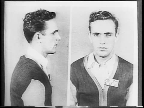 Mugshot of Herbert Haupt / Haupt at trail / Michigan Boulevard in Chicago IL / children playing on sidewalk in neighborhood / outside of Haupt's home...