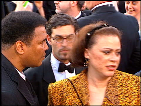muhammad ali at the 1997 academy awards arrivals at the shrine auditorium in los angeles california on march 24 1997 - 69th annual academy awards stock videos and b-roll footage