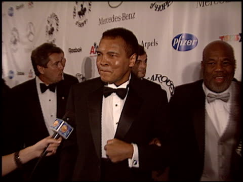 muhammad ali at the carousel of hope gala at the beverly hilton in beverly hills california on october 23 2004 - carousel of hope stock videos and b-roll footage