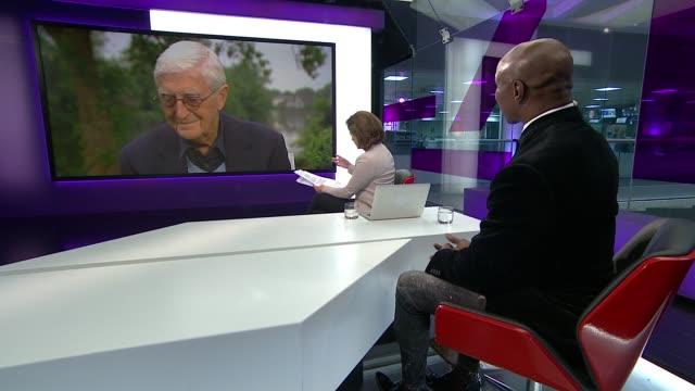 muhammad ali dies aged 74; chris eubank live studio interview sot sir michael parkinson live 2-way interview from bray, berkshire sot - chris eubank sr. stock videos & royalty-free footage