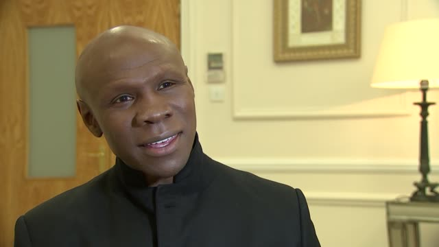 muhammad ali dies aged 74: eubank reaction; england: london: int chris eubank interview on his reaction to the death of former world heavyweight... - chris eubank sr. stock videos & royalty-free footage