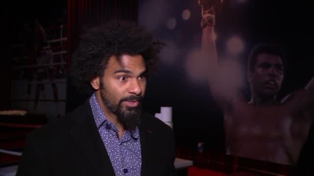 lonnie ali and david haye attend opening england london the o2 int david haye interview sot lonnie ali arriving / unidentified woman speaking at... - david haye stock videos and b-roll footage