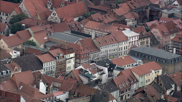 muhlhausen  - aerial view - thuringia,  unstrut-hainich-kreis helicopter filming,  aerial video,  cineflex,  establishing shot,  germany - turingia video stock e b–roll