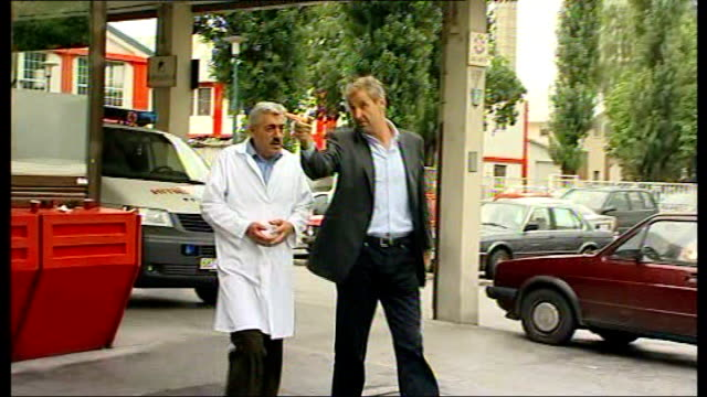 mulaomerovic and reporter along - ratko mladic stock videos & royalty-free footage