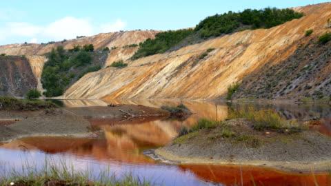 vidéos et rushes de paysage de colline de mullock - mine de charbon