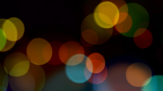 Multi Color Defocused Lights, HD Looping Element