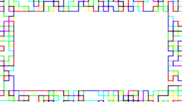 multi colored blinking squares frame - pixellated stock videos & royalty-free footage