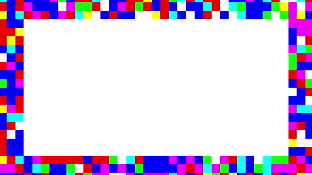 multi colored blinking squares frame - double chance stock videos & royalty-free footage