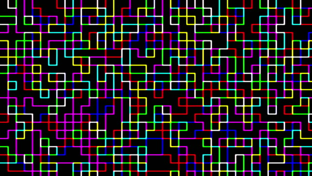 multi colored digital squares pattern - checked pattern stock videos & royalty-free footage