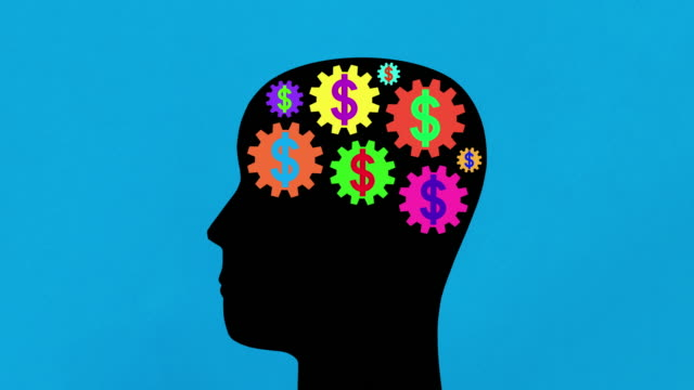 multi colored dollar thoughts - male likeness stock videos & royalty-free footage