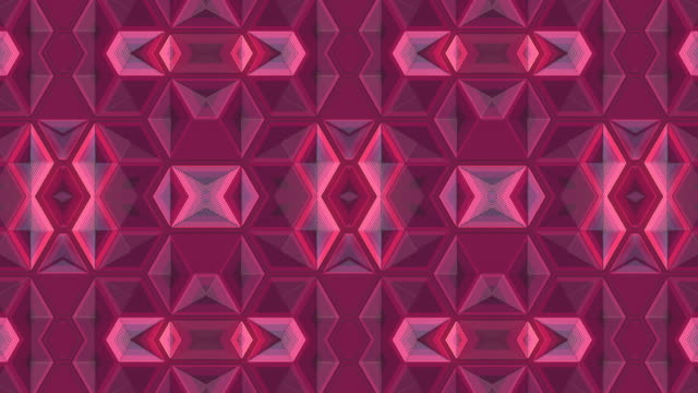 multi colored geometric shape loop animation. abstract 3d rendering kaleidoscopic vj motion backdrop. 4k, uhd - optical illusion stock videos & royalty-free footage