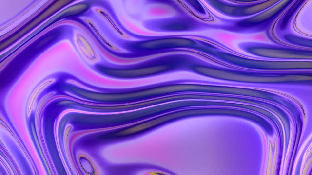 multi colored holographic waves pattern. futuristic abstract rainbow cover. 3d rendering digital seamless loop animation. 4k, ultra hd resolution - light effect stock videos & royalty-free footage
