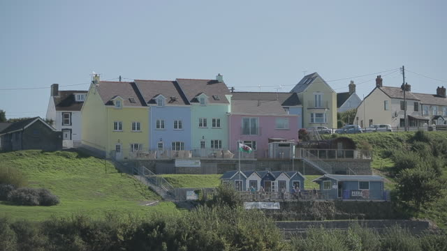 multi colored houses / uk - wales stock videos & royalty-free footage