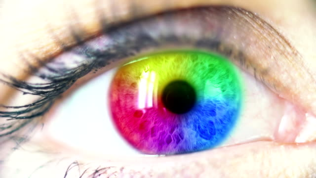 multi colored human eye - spectrum stock videos and b-roll footage