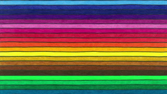 マルチカラーラインシームレスな背景 - 手塗り点の映像素材/bロール