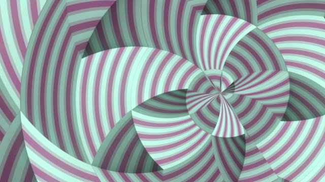 multi colored moving round geometric striped pattern. digital seamless loop animation. 3d rendering. hd resolution - optical illusion stock videos & royalty-free footage