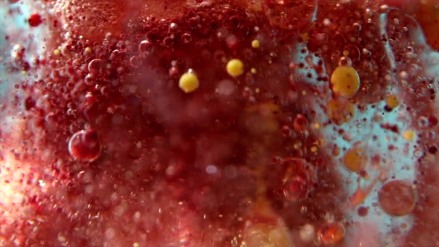multi colored virus close up - food coloring stock videos and b-roll footage