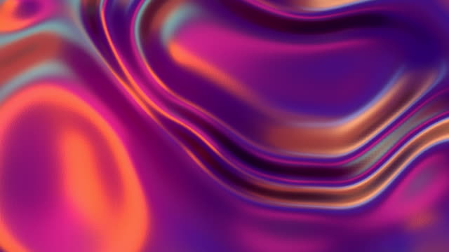 vídeos de stock e filmes b-roll de multi colored wavy iridescent geometric motion surface. vivid abstract background. holographic waves motion graphic design. 3d rendering digital seamless loop animation. 4k, ultra hd resolution - corrente água corrente