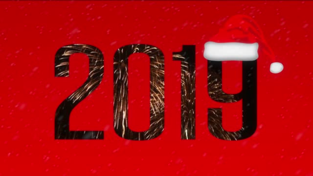 2019 multi exposure design - santa hat stock videos & royalty-free footage
