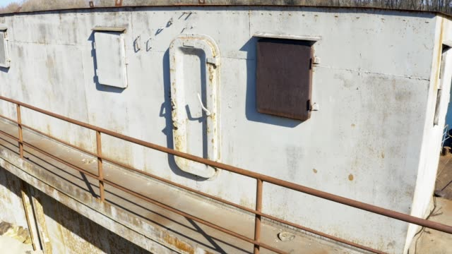 multi level barge hold spaces - weathered stock videos & royalty-free footage
