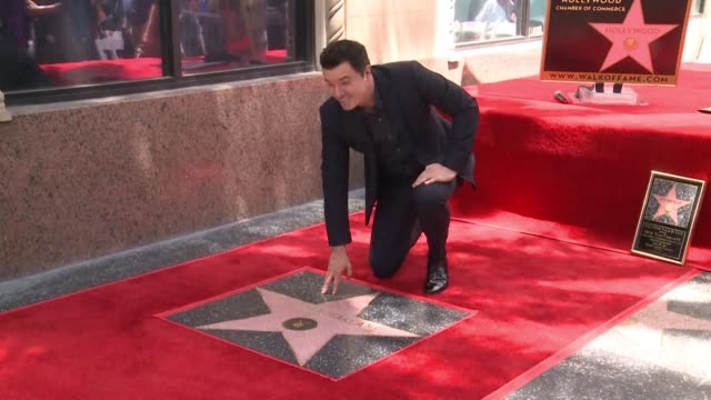 multi talented actor seth macfarlane also voice over artist animator screenwriter comedian and director unveils his star on the hollywood walk of fame - animator stock videos & royalty-free footage