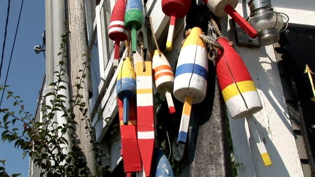 multicolor boat buoy in wood - buoy stock videos & royalty-free footage