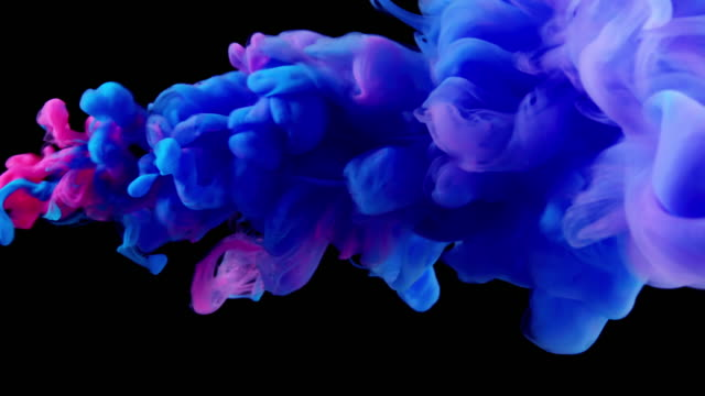 SLOW-MO: Multicolor liquid flow