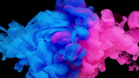 slow-mo: multicolor liquid flow - impact stock videos & royalty-free footage