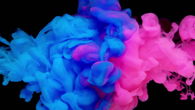slow-mo: multicolor liquid flow - splash stock videos and b-roll footage
