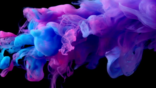 slow-mo: multicolor flüssigkeitsstrom - tinte stock-videos und b-roll-filmmaterial