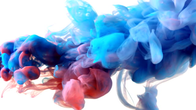 slow-mo: multicolor liquid flow - white background stock videos & royalty-free footage