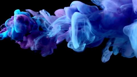 slow-mo: multicolor liquid flow - purple stock videos & royalty-free footage