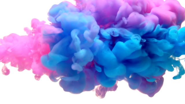 slow-mo: multicolor liquid flow - water video stock e b–roll