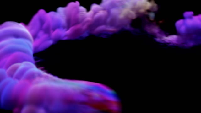 mehrfarbiger rauchflussübergang mit alphakanal-stockvideo - levitation stock-videos und b-roll-filmmaterial