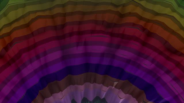 vidéos et rushes de fond abstrait multicolore (loopable) - vertige