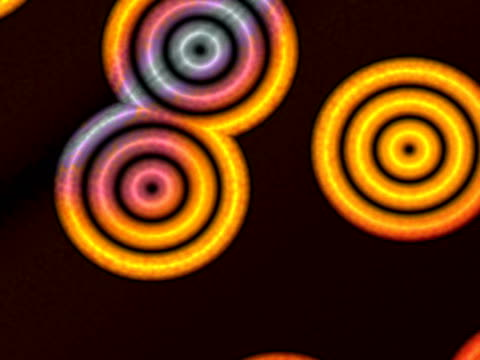 cgi, multicolored concentric shapes - concentric stock videos & royalty-free footage