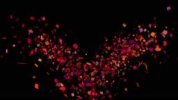 Multicolored Confetti Explosions in Alpha Channel