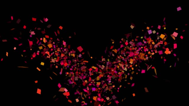 multicolored confetti explosions in alpha channel - celebration stock videos & royalty-free footage