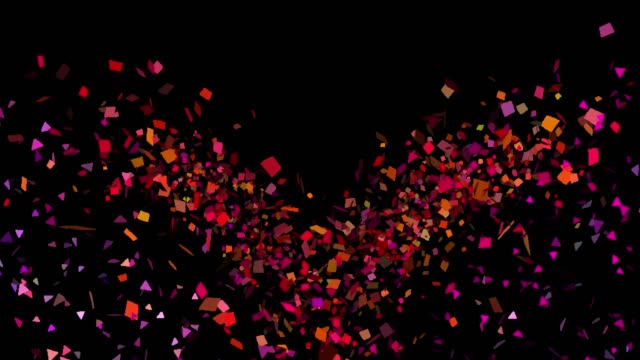 multicolored confetti explosions in alpha channel - anniversary stock videos & royalty-free footage