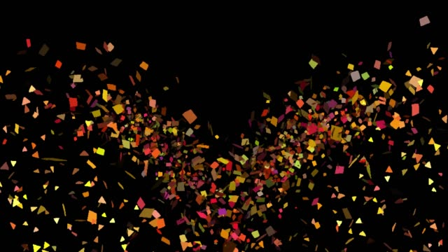 multicolored confetti explosions in alpha channel - transparent stock videos & royalty-free footage