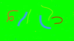 Multicolored confetti falling Green screen