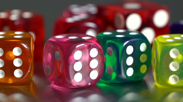 gambling multicolor dices