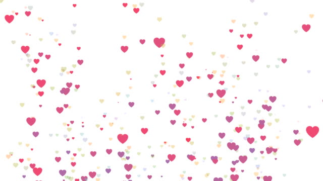 multicolored hearts loopable background footage - heart stock videos & royalty-free footage