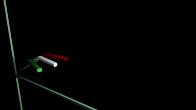 vídeos y material grabado en eventos de stock de multi-colored line graph. - diagrama de línea