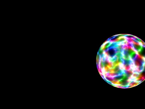 cgi, multicolored sphere rotating against black background - intricacy stock videos & royalty-free footage
